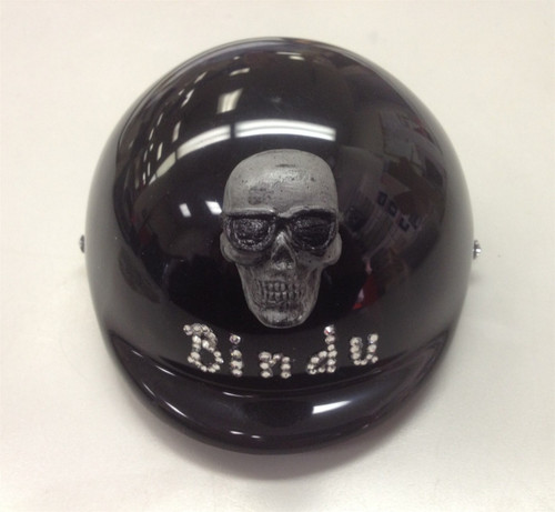 Custom Bling Name with Skull Dog Helmet
