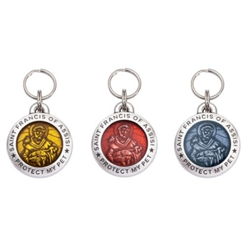Saint Francis of Assisi Dog Collar Charms (MANY COLORS)