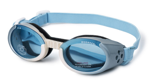 Doggles ILS Ice Blue Dog Goggles