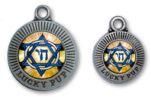 Lucky Pup Star of David Dog ID Tag