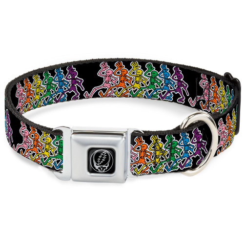 grateful dead dancing skeletons dog collar