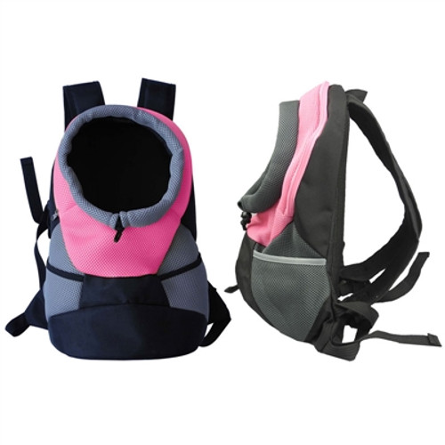 pink backpack dog carrier