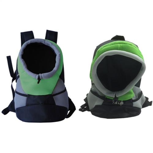 green backpack dog carrier
