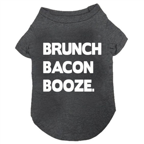 brunch bacon booze dog tee