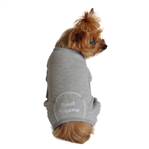 sweet dreams grey thermal dog pajamas for dogs