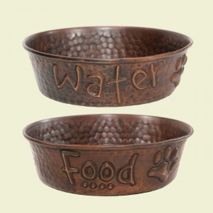 Copper Dog Bowls