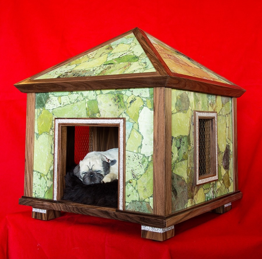 Indoor dog houses - Green Jasper Pet Palace Indoor Dog House