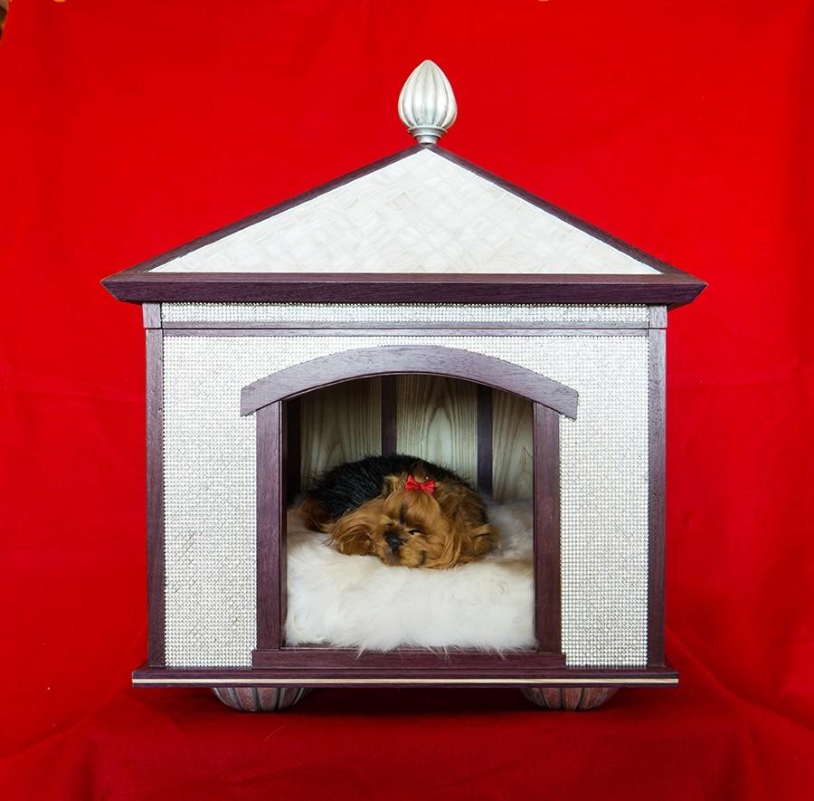 Indoor dog house - Swarovski Crystal Pet Palace Indoor Dog House