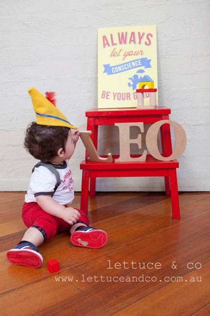 Modern Pinocchio Inspired 1st Birthday Little Dance