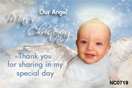 Angel Christening Baptism and Naming Invitations