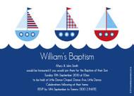 Nautical Sailboard Baptism Christening & Naming Invitations