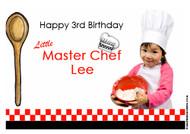 Masterchef Cooking Personalised Birthday Cake Icing Sheet