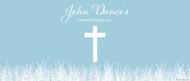 Christening & Baptism Banner - Blue Fields Crucifix