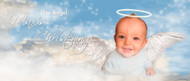 Christening & Baptism Banner - Heavenly Angel