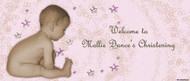 Christening & Baptism Banner - Little Girl Stars