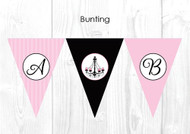 Chandelier Christening & Baptism Personalised Bunting Flags