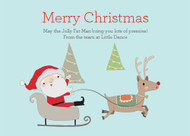 Modern Christmas Party Invitations and Christmas Greeting Card