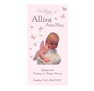 Pink Butterfly Baptism & Christening Ceremony Candles