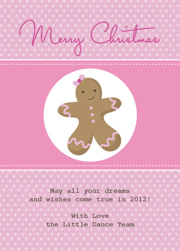 Christmas greeting cards gingerbread man theme australia pink gingerbread man christmas party invitations and christmas greeting card m4hsunfo