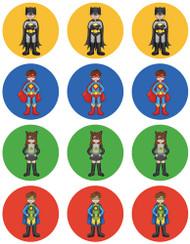 Superhero Characters Cupcake & Cookie Edible Images