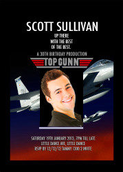 Top Gun Birthday Party Invitation