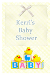 Custom baby shower edible image icing or frosting sheet. Personalized - Baby Blocks Theme