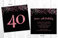 Personalised 40th birthday party invitation