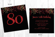 Personalised 80th birthday party invitation