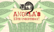 Mad Hatters Tea Party Birthday Banner