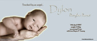 New Baby Announcement Banner made using a photo
