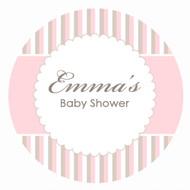 Baby Shower Cake Icing - Pink Stripe