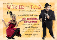 Gangster & Molls old style party invitation made using photos