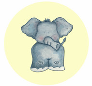 Little Elephant Party Spot Sticker Labels