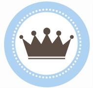 Little Prince Crown Party Spot Sticker Labels