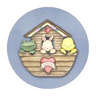 Noahs Ark Party Spot Sticker Labels