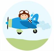 Pilot Plane Party Spot Sticker Labels