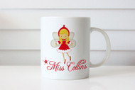 Christmas Fairy Personalised Mug with name. Australian online shop delivers to Melbourne, Sydney, Brisbane