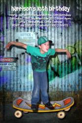 Skater boy Birthday Party Invitation