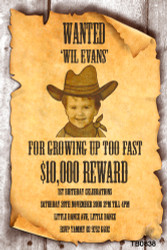 WANTED Sign Party Invitations