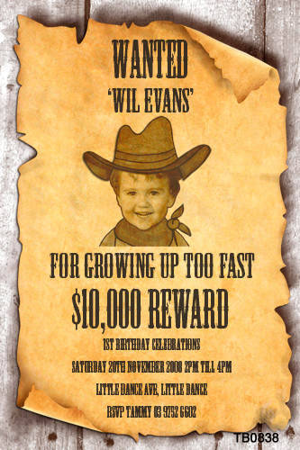 Kids Wanted Poster Party Invitations Wanted Sign Birthday ...
