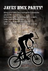 BMX Bandits Party Invitation