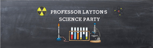 Chemistry Science Party Personalised Kids Party Banners
