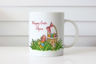 Custom personalised coffee mug with Easter theme. Buy online in Australia. Adelaide, Melbourne, Sydney, Brisbane, Canberra delivery