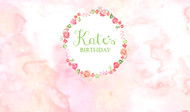 Floral Watercolour Party Personalised Kids Birthday Party Banners