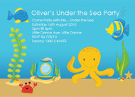 Sea Creatures Personalised Kids Birthday Party Invitations
