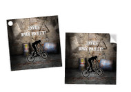 BMX Bandits Bike Party Personalised Square Stickers & Square Tags