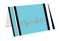 Blue VIP Event Ticket Party Personalised Place Cards, Name Cards, Buffet & Lolly jar cards