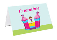 Bouncing Jumping Castle Party Personalised Place Cards, Name Cards, Buffet & Lolly jar cards