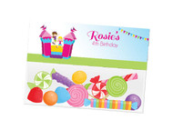Bounce Jumping Castle party themed personalised birthday party lolly bag, loot bag and party favour bags.
