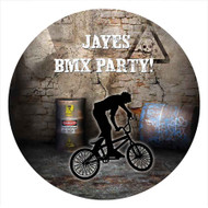 BMX Bike Birthday Party personalised stickers and labels